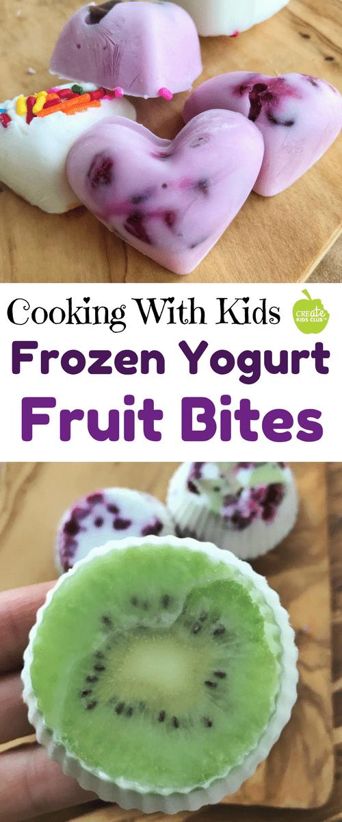 Frozen Yogurt with fruit Frozen yogurt bites kids can