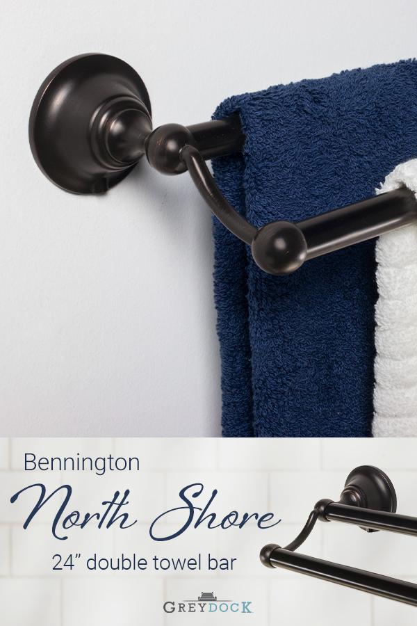 Bennington North Shore 24 Bath Accessories Set Towel Bar Towel