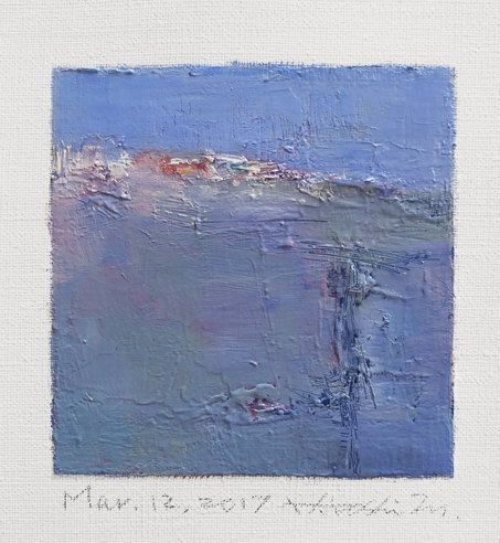 Mar. 12 2017 Original Abstract Oil Painting by hiroshimatsumoto