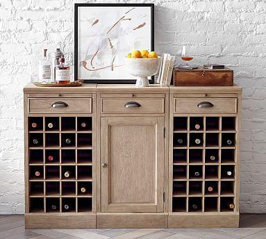Modular Bar Buffet With 2 Wine Grids Bares En Casa