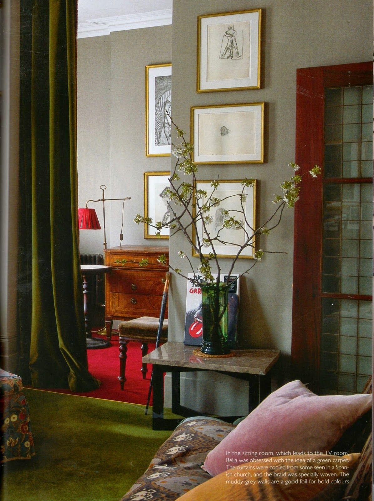 Karen Barlow Bella Freud S London Home Designed With Retrovious