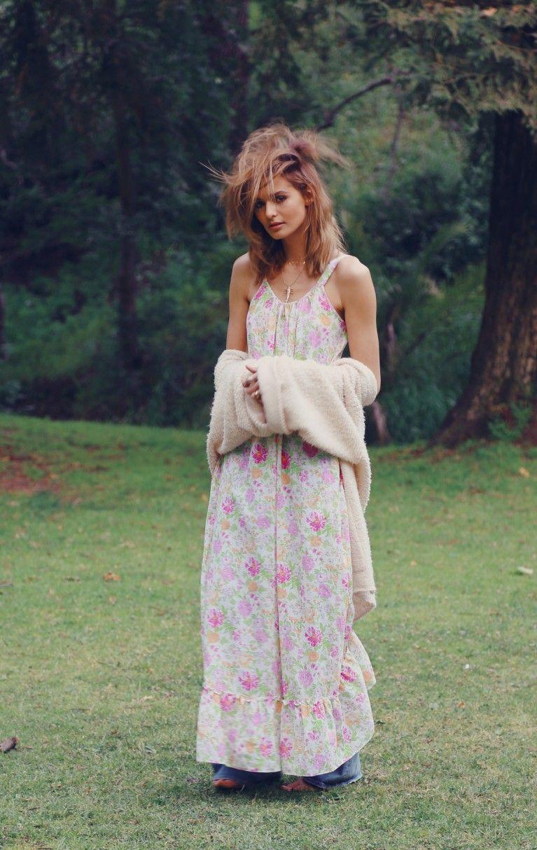 Wildfox Couture Pink Floral Hampton Dress