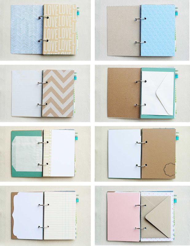 cute mini journal >>> reminds me of a diy smash book