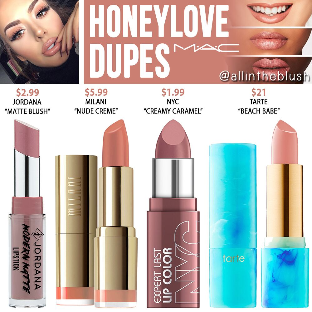 HONEYLOVE DUPES🍯 from MAC Cosmetics Mac retro lipstick