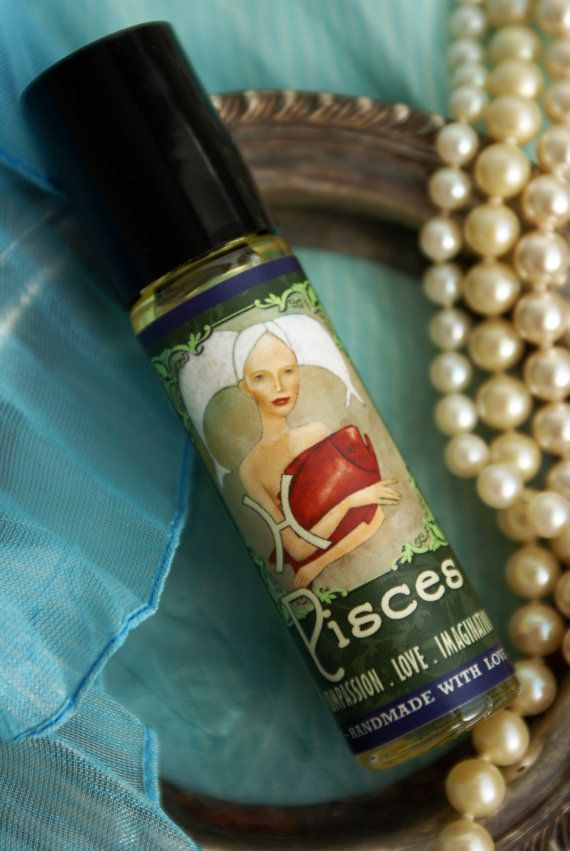 PISCES Organic Perfume Sandalwood Hyssop by planetearthoils, $29.99