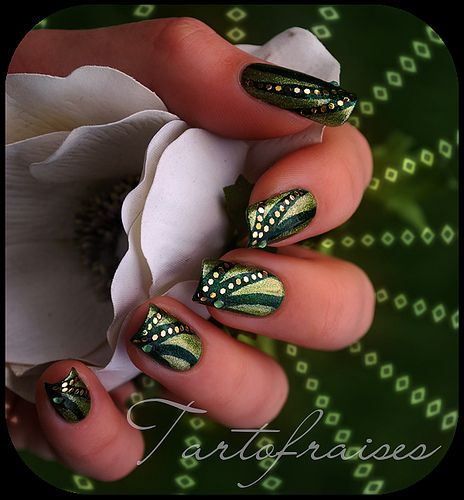 Tartofraises nail art poison ivy nails nail nail and nail stripes simple nail arts prinsesfo Image collections