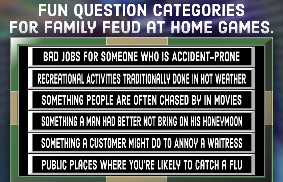 """Family Feud"" Quiz Free Questions (and Answers) Family"