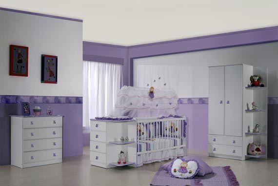purple baby nursery themes designs contemporary children room