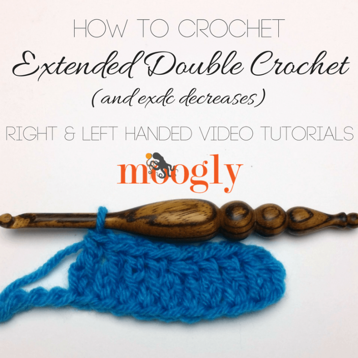 Learn how to crochet the extended double crochet stitch with a ...