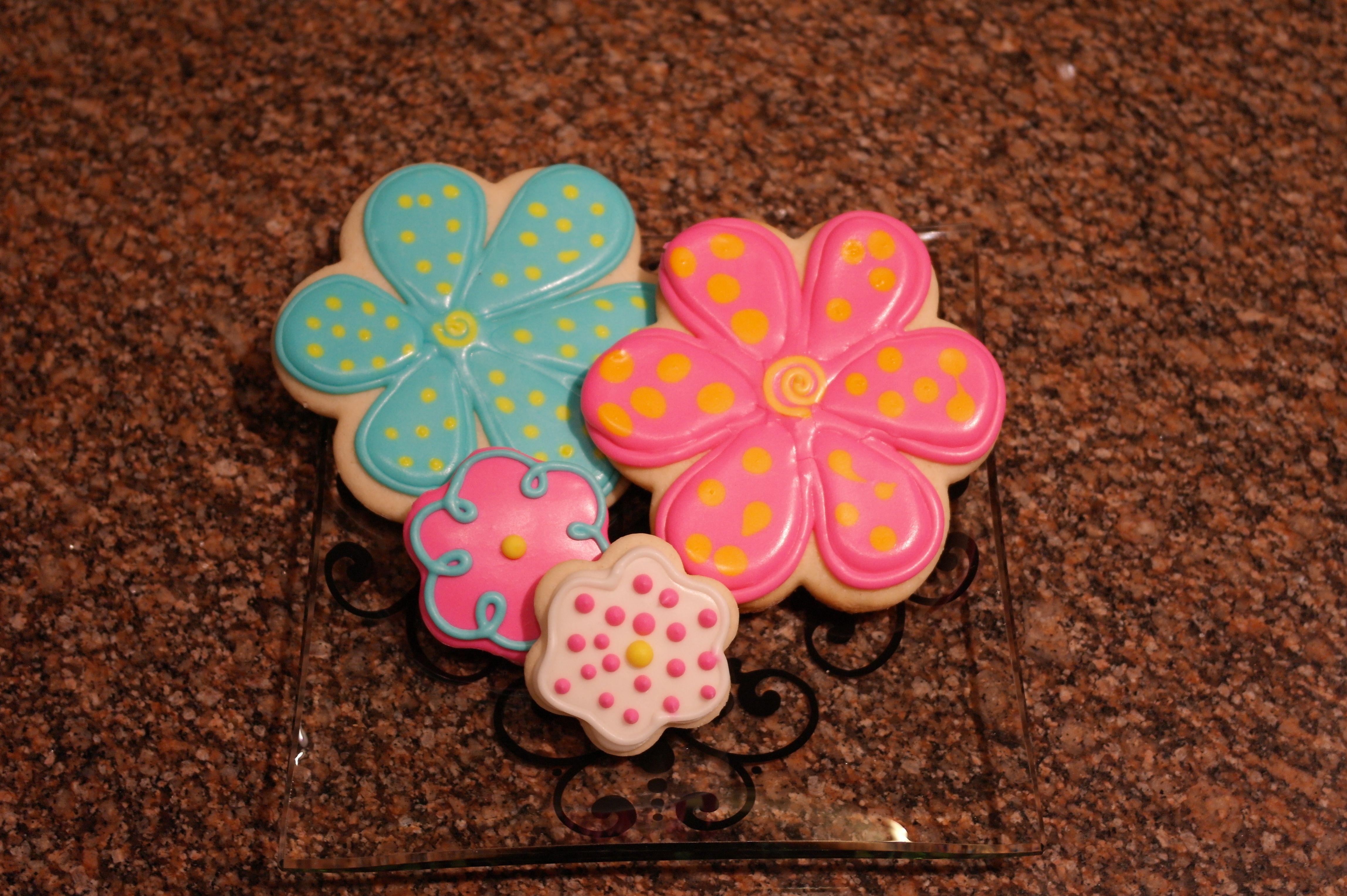 90th Birthday Flower Cookies Cookielicious 90th Birthday Cookies