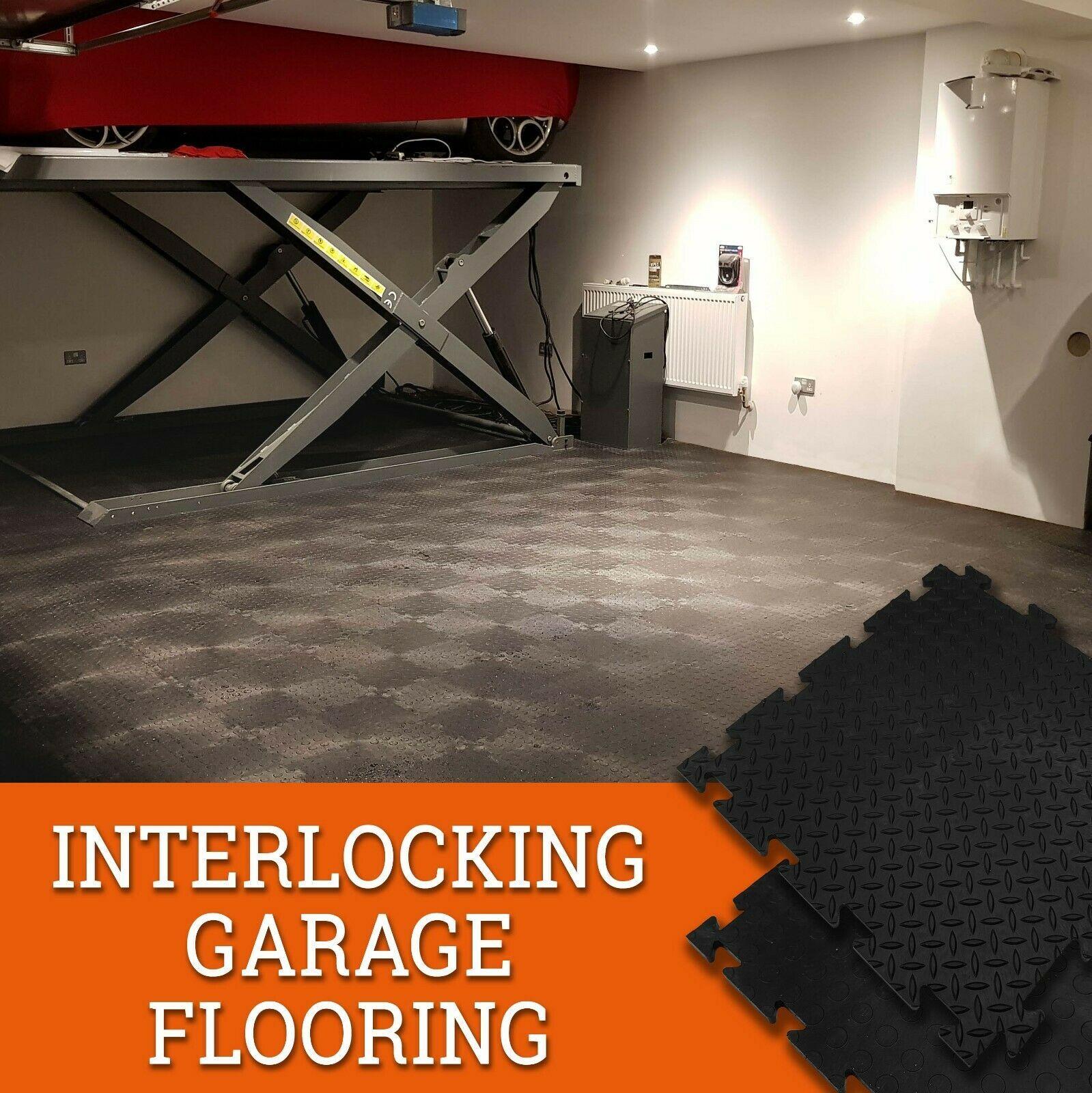 Details About Garage Workshop Warehouse Gym Pvc Interlocking Heavy Duty Industrial Tiles Warehouse Gym Garage Workshop Industrial Tile