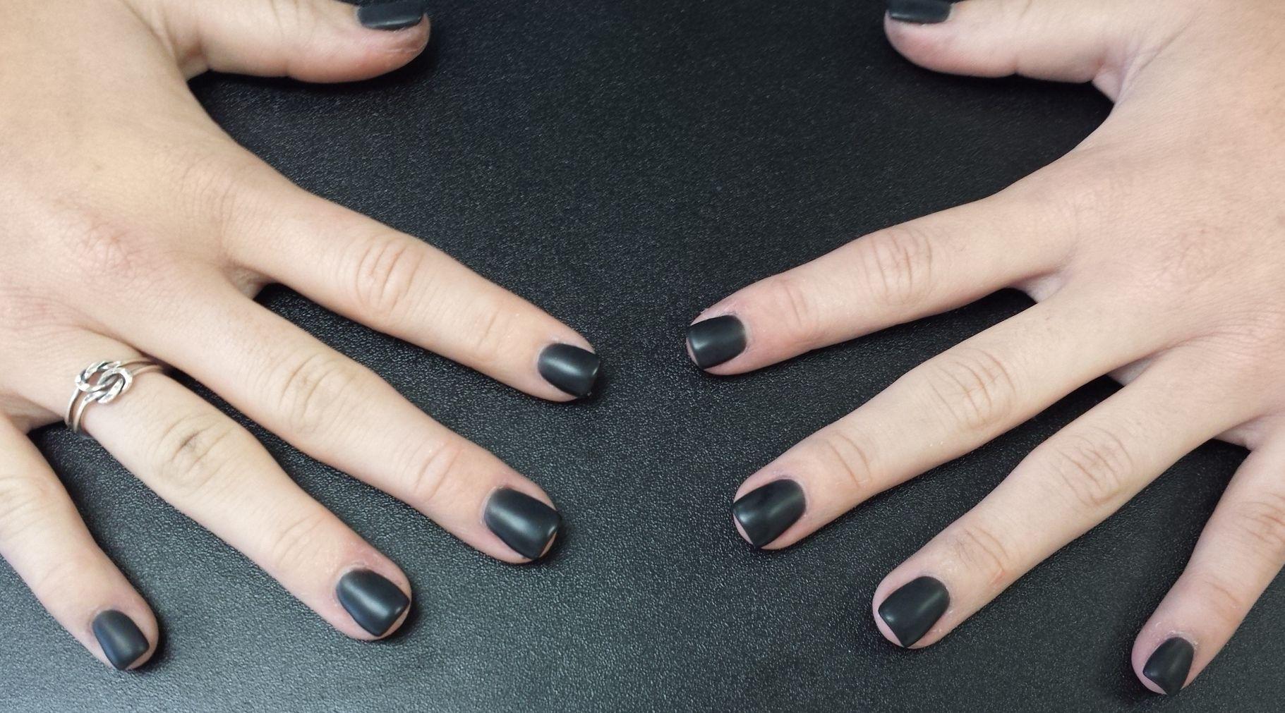 Matte black Nexgen nails | nails | Pinterest