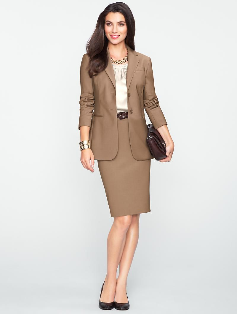 Talbots - Seasonless Wool Long Jacket   Suits and Separates ...
