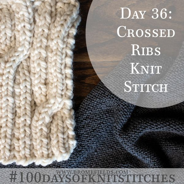 How to cross rib stitches when knitting +Video