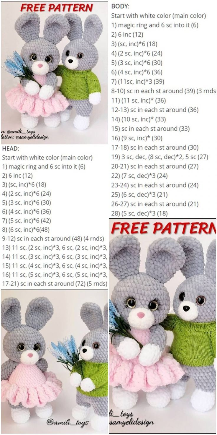 Amigurumi Velvet Rope Bunny Crochet kostenlose Anleitung - Crochet.msa.plus - #Amigurumi #Anleitung #Bunny #CROCHET #Crochetmsaplus #kostenlose #Rope #Velvet #eastercrochetpatterns