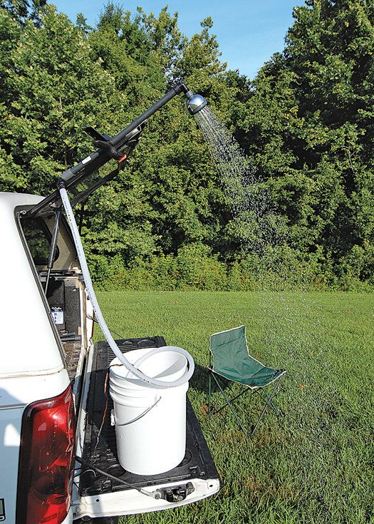Simple Project Of The Month The Diy Camping Shower