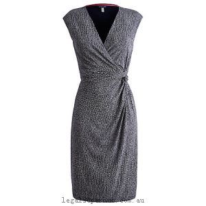 Joules Marilyn Dress Navy Snake 19748870 100% Polyester