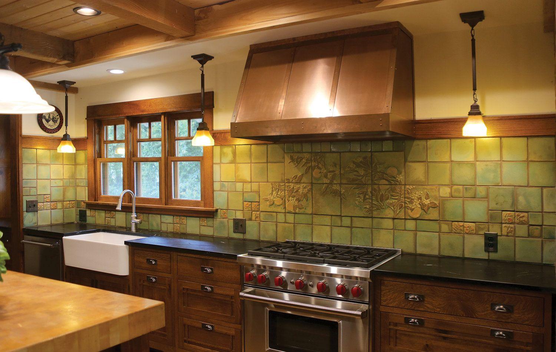 Kitchens Pasadena Craftsman Tile Craftsman Kitchen Bungalow Kitchen Craftsman Style Kitchens