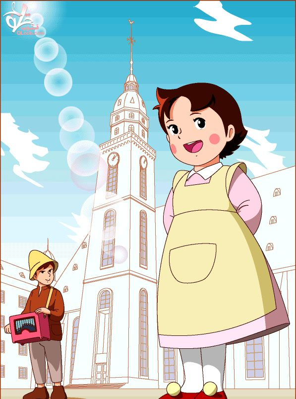 Heidi At Frankfurt Http Heidicartoon Blogspot In Heidi Cartoon Cute Cartoon Wallpapers Bible Cartoon
