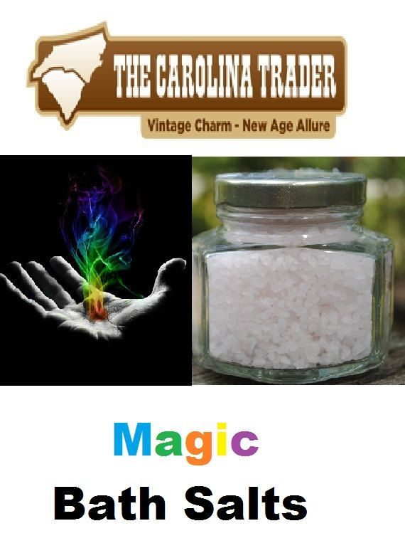 Magic Bath Salts  4 oz Jar by TheCarolinaTrader on Etsy