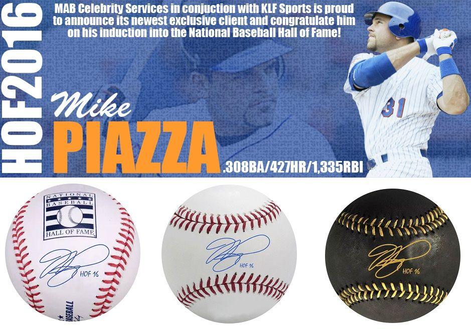 Pre Order Mike Piazza Autographed Mlb Baseballs Inscribed Hof 16 Shop Here Bit Ly 1isrvxj Mike Piazza Nationals Baseball Mlb Baseball