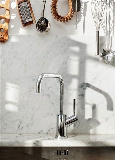 Marmor Backsplash-Wasserhahn küche Interieur Design Pinterest - wasserhahn für küche