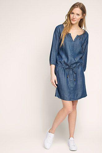 16174b99bb2 EDC / Denim dress in smooth lyocell   Fashion Ideas & Tips   Dresses ...