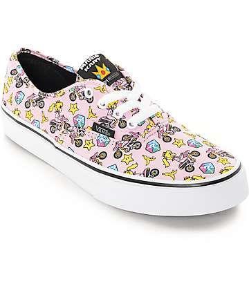 05acc853c6 Vans x Nintendo Kids Authentic Princess Peach Shoes