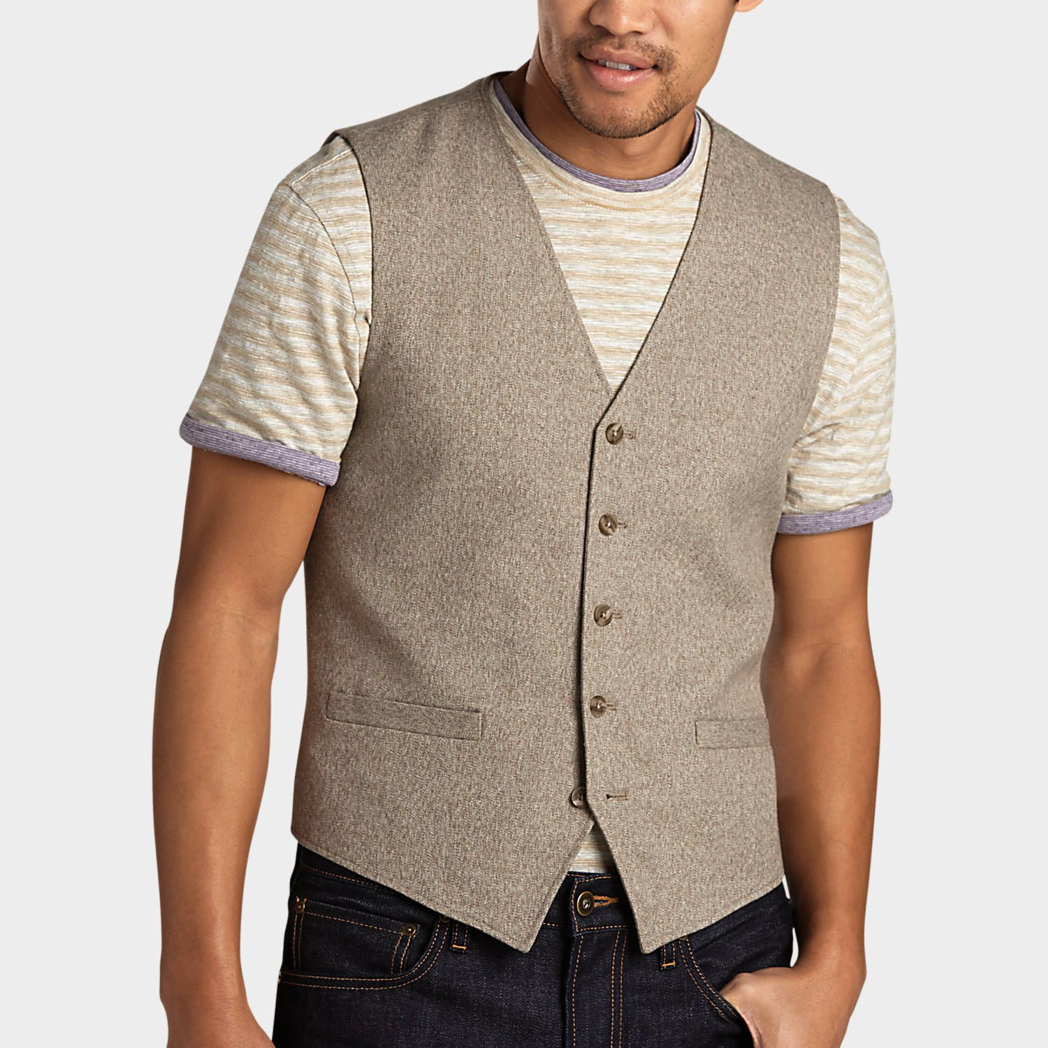 Pict j ferrar modern fit 1 - Buy A Joseph Abboud Taupe Modern Fit Vest And Other Tailored Vests At Men S Wearhouse