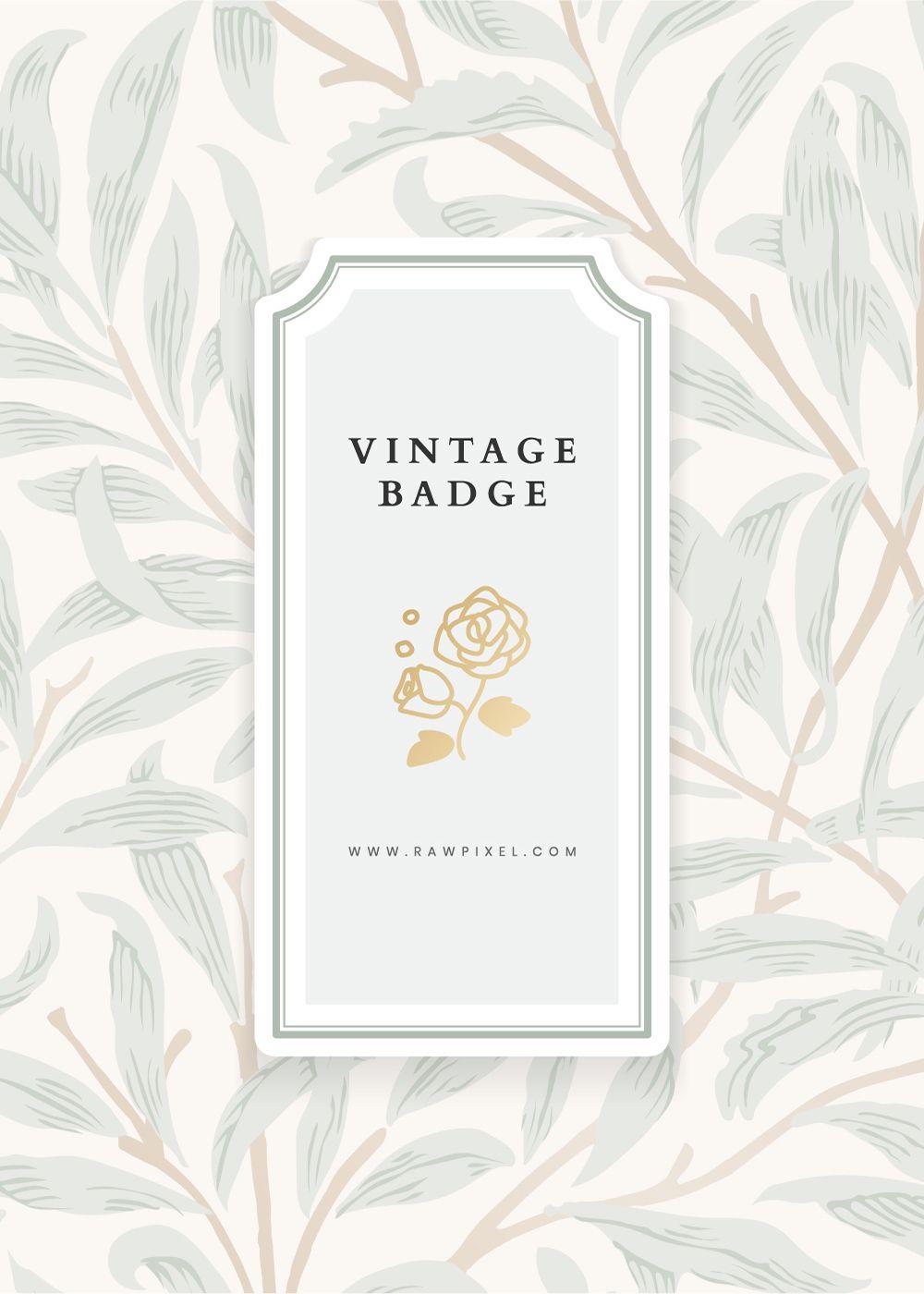 Download premium vector of Vintage natural patterned logo