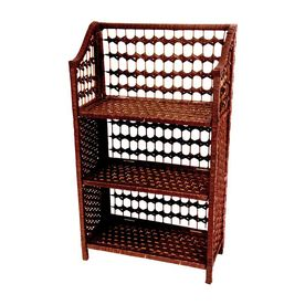 Oriental Furniture Natural Fiber Mahogany 20 In W X 33 In H X 10 In D 3 Shelf Bookcase Jh09 018 3 Mhgny Oriental Furniture Shelves Furniture