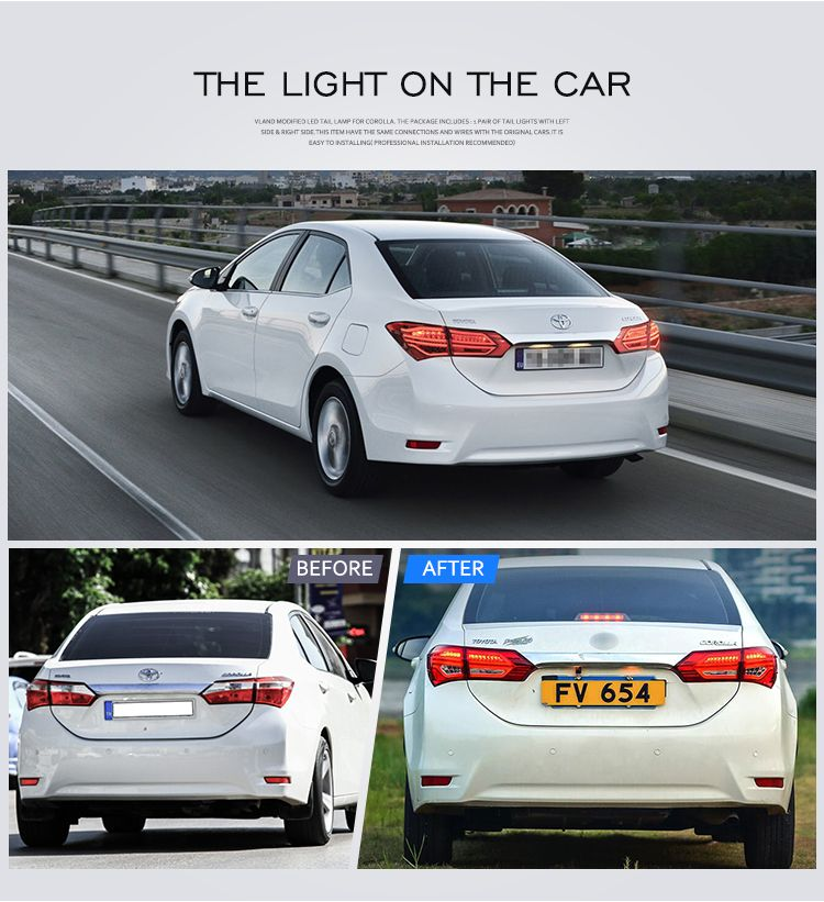 VLAND Wholesales Factory Manufacturer Corolla Rear Light