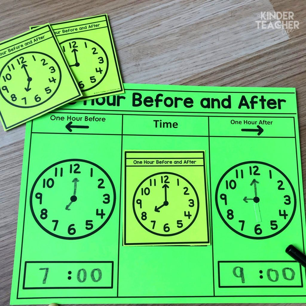 Telling Time Using Hands On Math Centers