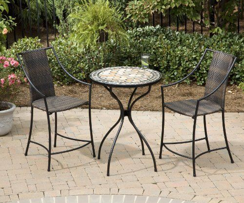 Home Styles 5605 359 3 Piece Bistro Set With Table And Laguna