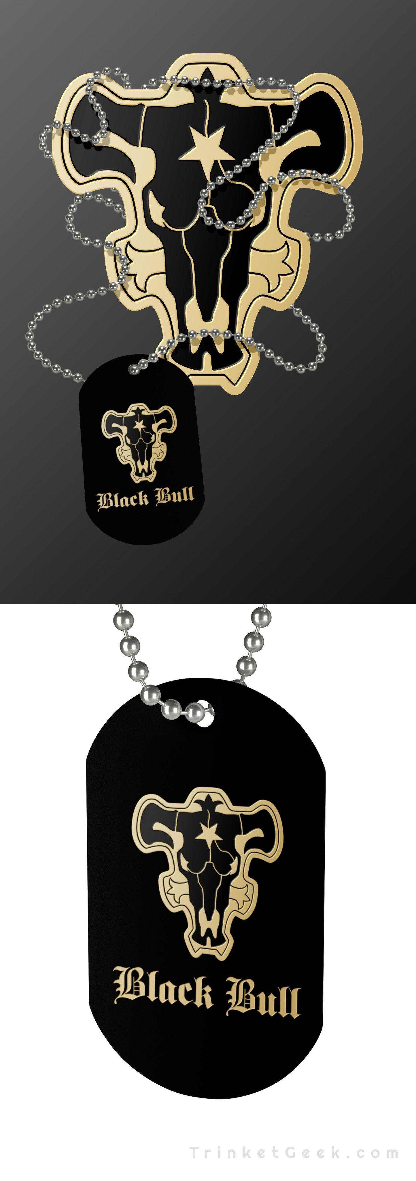Black clover magic knight squad dog tag necklaces black