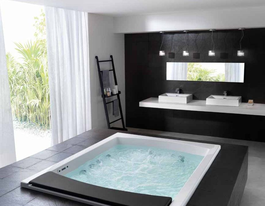 20 beautiful and relaxing whirlpool tub designs | jetted bathtub