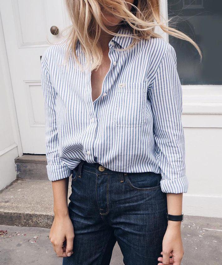 Best 25 striped women 39 s oxford shirts ideas on pinterest for White oxford shirt women