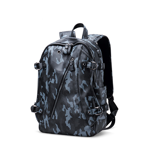 688add9ba021 Camouflage Leather Backpack Back To School Special