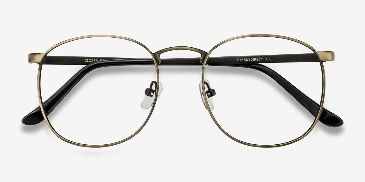 c46b33481d60 Closer Bronze Metal Eyeglasses from EyeBuyDirect. Exceptional style ...