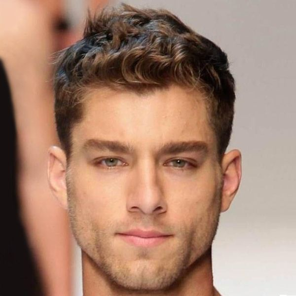 hairstyles for men with thin curly hair | MEN\'S SHORT HAIRSTYLES ...