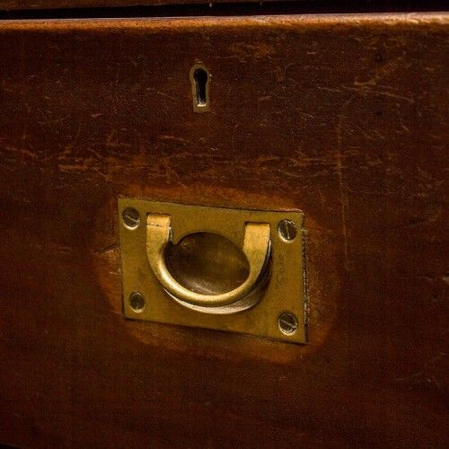 Decoration Archive Mahogany chest from HMS Albemarle Ship (1901) #vintage