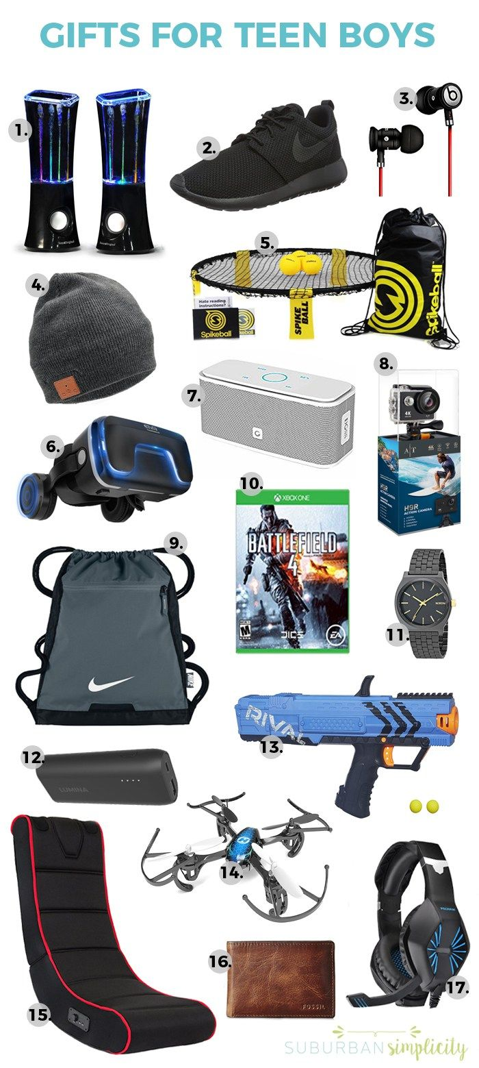 17 Awesome Gift Ideas for Teen Boys | The BEST Gift Ideas For ...