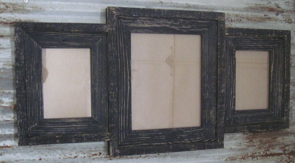 Reclaimed Barn Wood Multi-Photo Collage Picture Frame Holds 1-8x10 ...