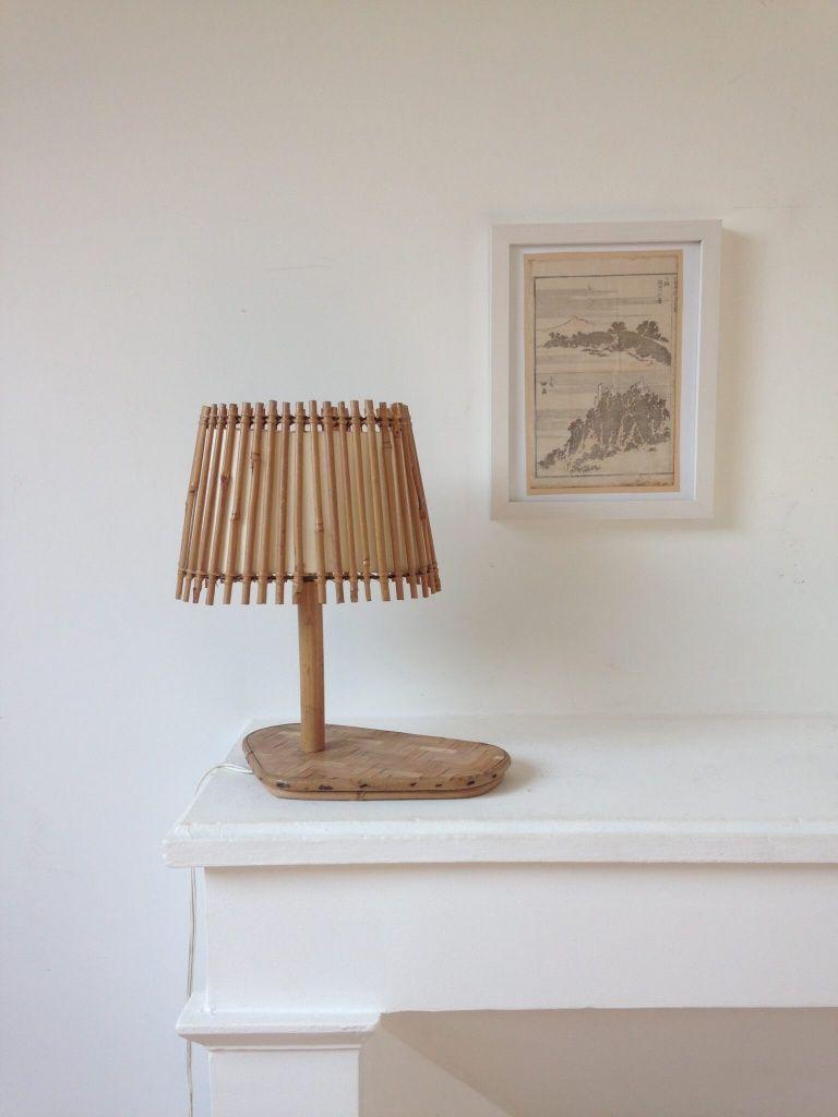 Atelier Vime   Lampe en rotin et marqueterie de bambou