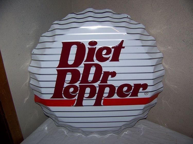 1970s diet dr pepper soda pop bottle cap embossed metal
