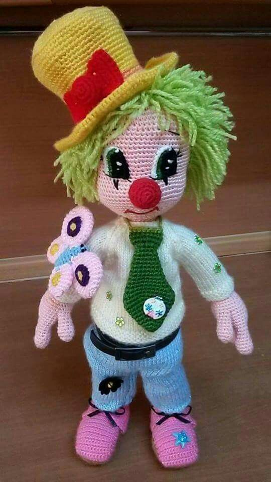 Pin by Saskia on hoedjes - mutjes haken voor clown | Pinterest ...