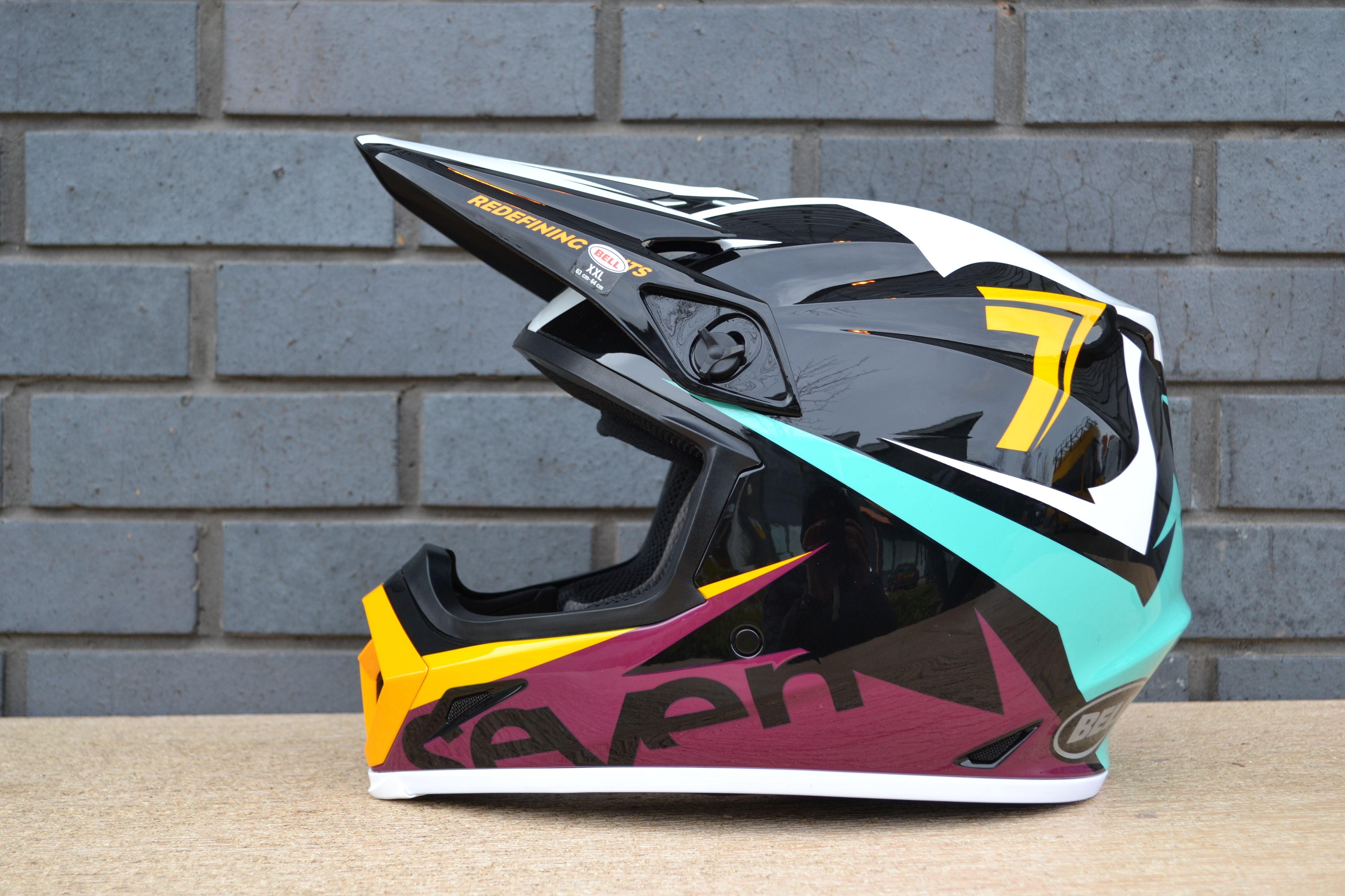Bell Mx9 Mips Helmet Seven Ignite Aqua Maroon Black Motocross Helmets Helmet Maroon