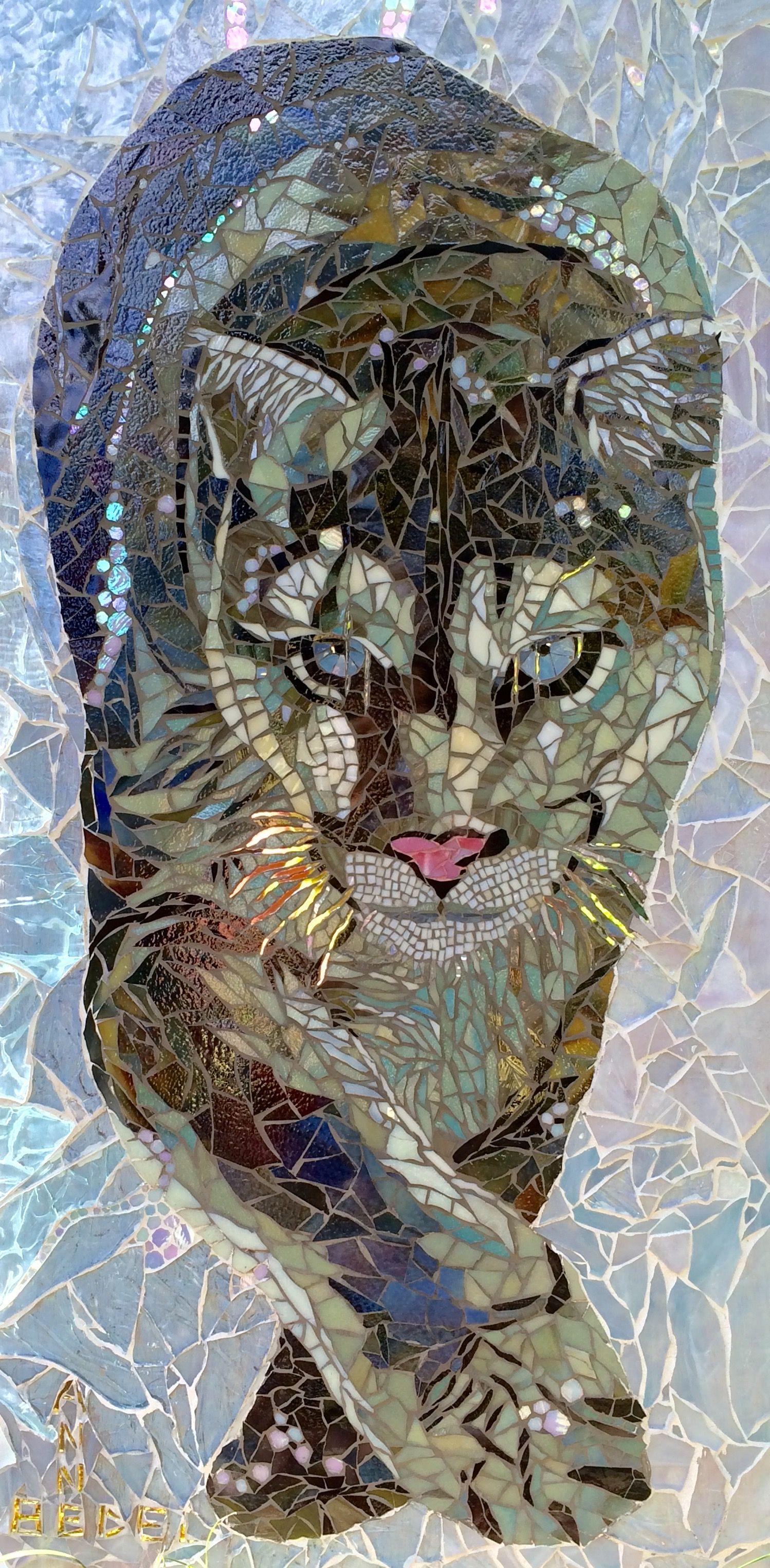 Snow puma mosaic - Anne Bedel | Mosaic | Pinterest | Mosaicos ...