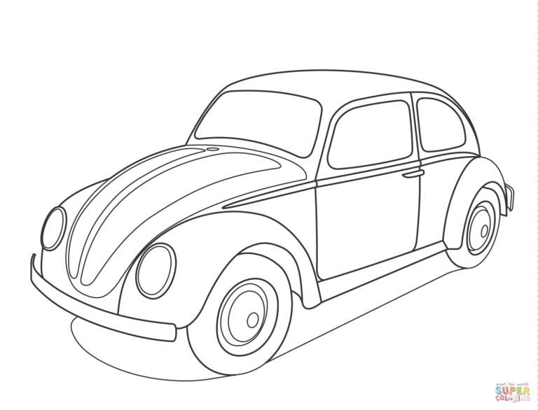 Desenho De Kombi Da Volkswagen Para Colorir Pampekids Net Bug Coloring Pages Beetle Art Coloring Pages