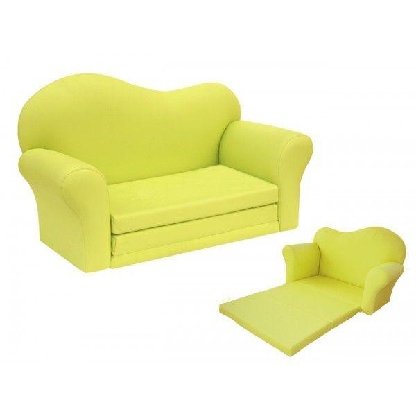 canap contemporain vert anis deux places et lit d 39 appoint affaires b b divers pinterest. Black Bedroom Furniture Sets. Home Design Ideas